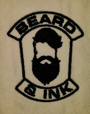 BEARD AND INK MOTORCYCLE BIKER EMBROIDERED VEST PATCH IRON ON