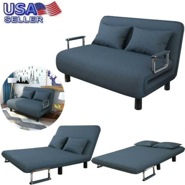 Hot Convertible Sofa Bed Folding Arm Chair Sleeper Leisure Recliner Lounge Couch