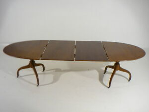 ... Vintage Sheraton Style Extension Dining Table 2 Leaves