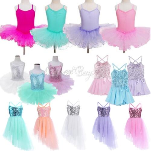 Toddler Kids Girls Dancer Ballet Leotard Dress Gymnastic Dancewear Tutu Costume