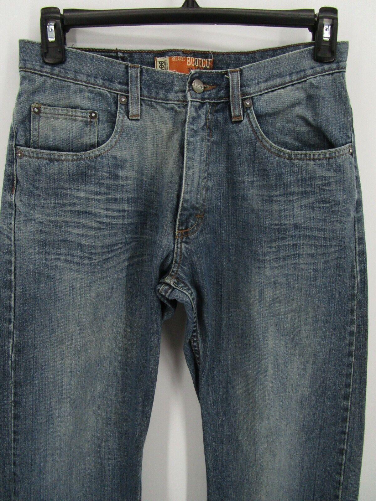 Lee Dungarees Men Size 31X32 Retro Y2K Blue Relax… - image 2