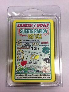 Details about SPIRITUAL BAR SOAP 100% GLYCERIN (JABON) FOR FAST LUCK  (SUERTE RAPIDA)