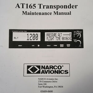 Details about Narco AT-165 Transponder Maintenance Manual on