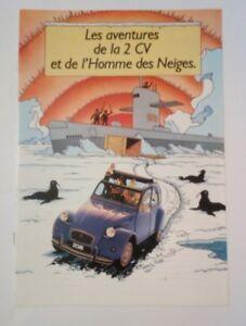 Les-aventures-de-la-2-CV-homme-des-neiges-Tintin-Brochure-publicitaire-Citroen