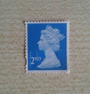 100 X 2nd Class Unfranked Security Stamps Off Paper No Gum Face Value £58
