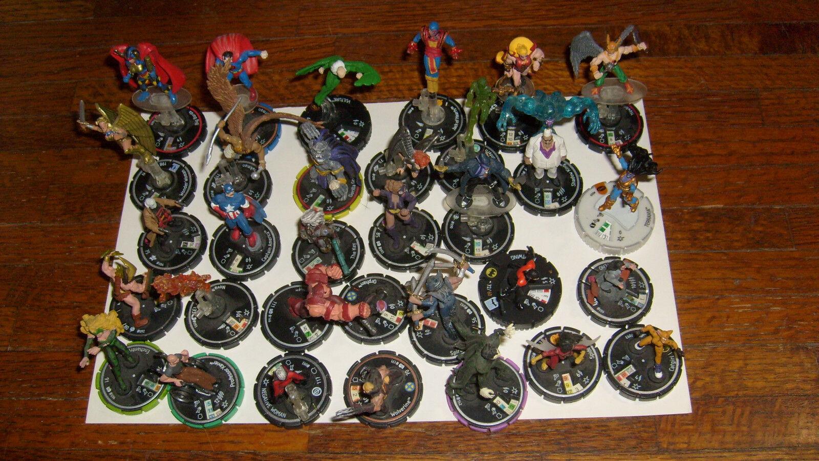 Heroclix dc und marvel - figuren  29, hoffentlich selten, einzigartig oder zumindest gelegentlich