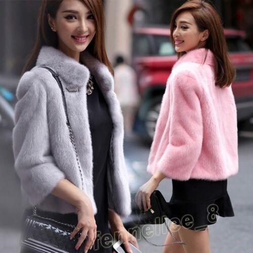 pelliccia da Cappotto donna donna invernale sintetica da corto in q1wOwAI