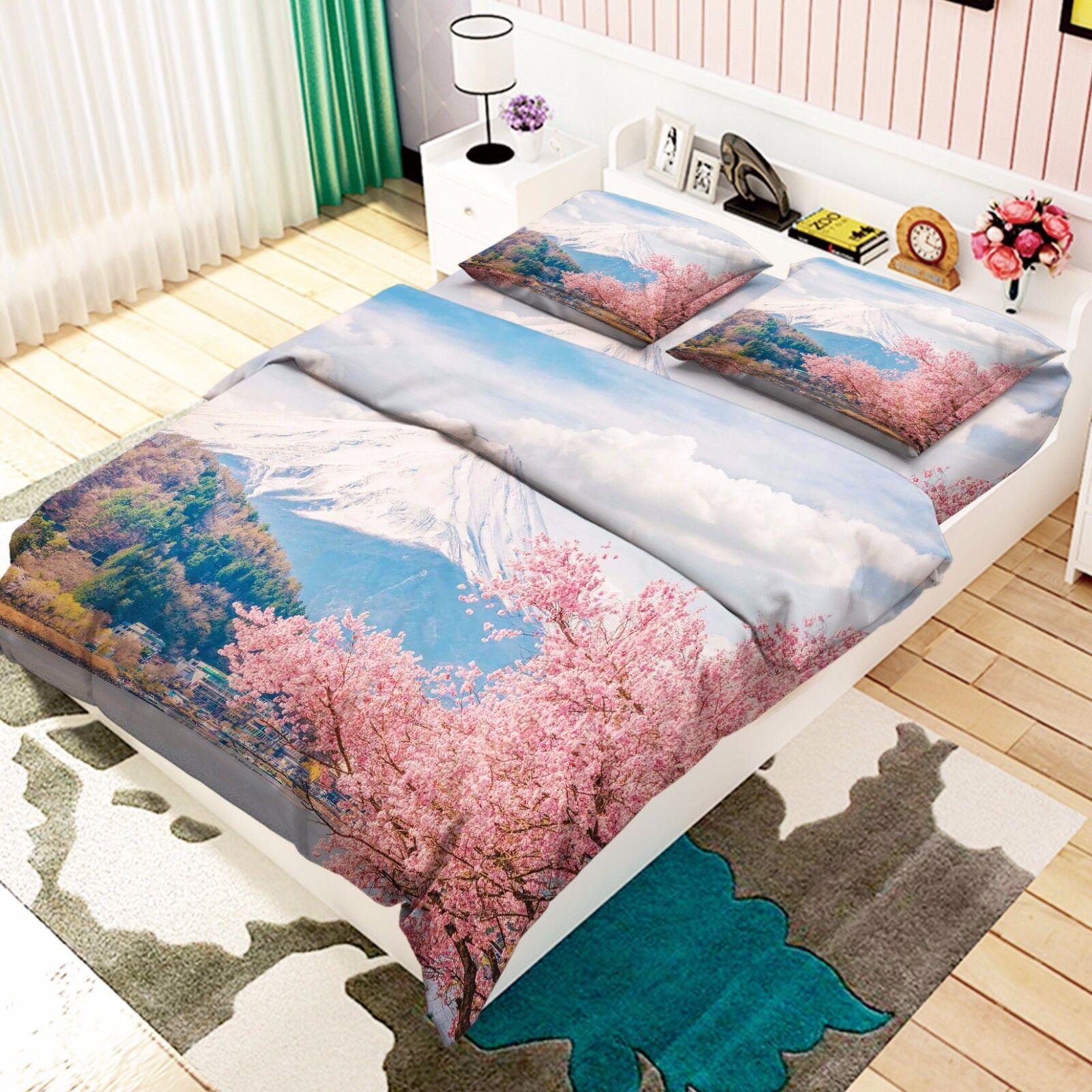 3D Nature Scenery 73 Bed Pillowcases Quilt Duvet Cover Set Single Queen AU Lemon