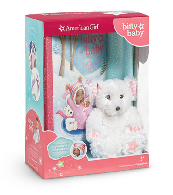 American Girl BITTY BABY  BOOK LOVES THE SNOW & PLUSH BEAR Set Doll Hardcover