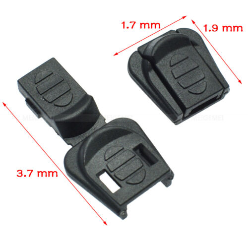 Cord Ends Zipper Pull Cord Lock Stopper For Sportswear Backpack Garment Black