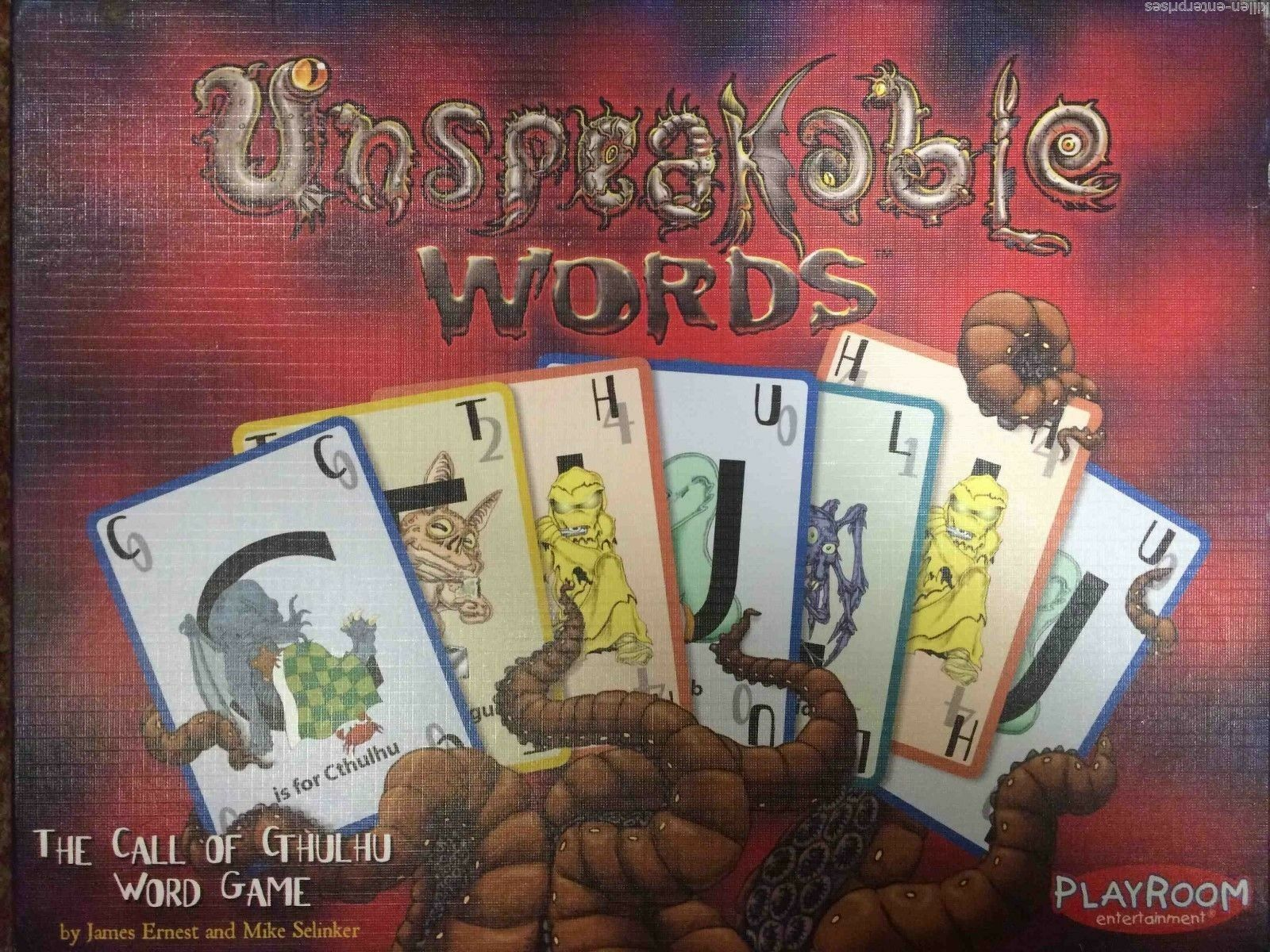 Unspeakable Words  The Call of Cthulhu Word Game Playroom 2007 Edition