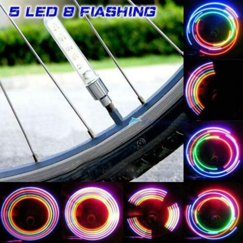 2//4x 32 Modes LED Flash Light Waterproof Bicycle Bike Tyre Tire Wheel Valve Lamp