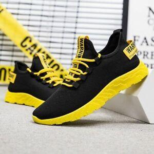 Men Casual Sneaker Breathable No-Slip Vulcanize Mesh Lace Up Wear-Resistant Shoe