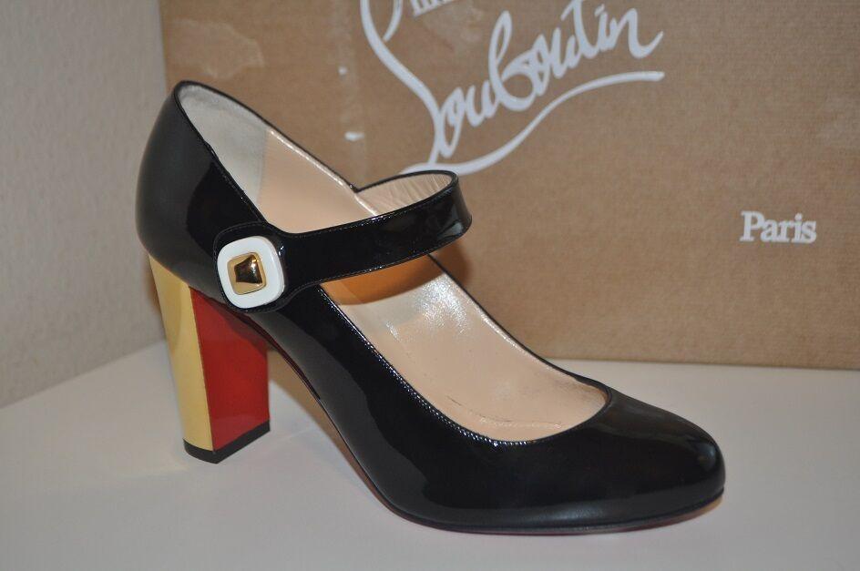 NIB Christian Louboutin BIBABA Mary Jane Pump shoes Black Patent SZ 39 - 9