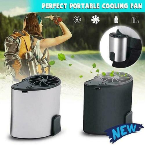 Mobile Air Conditioning Cooler USB Waist Fan Portable Mini Fan Black Outdoor New