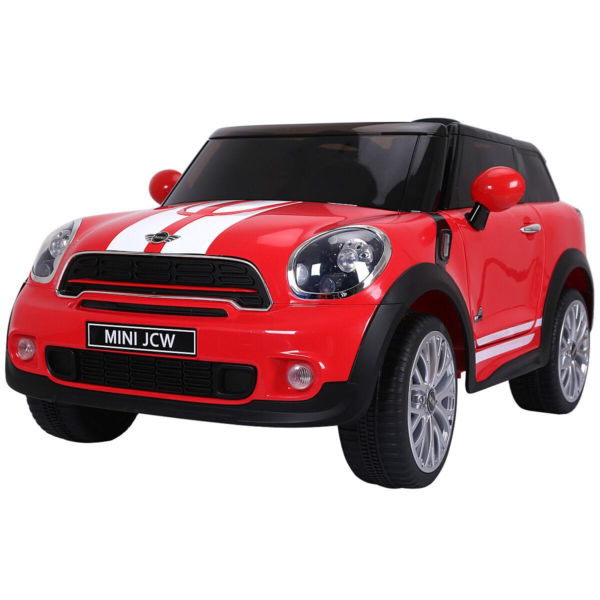 12v elektro - mini - paceman kinder auto lizenzierte r   c fernbedienung mp3 - rot