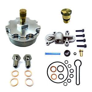 03-07-Ford-6-0L-Powerstroke-Diesel-Billet-Fuel-Filter-Cap-Blue-Spring-Kit