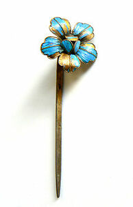 Qing-Dynasty-Kingfisher-feather-Hair-Pin-Antique-Chinese-19th-China-Tian-tsui