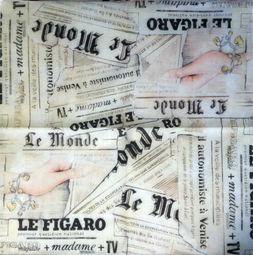 Rice Decoupage Paper NEWSPAPER Scrapbooking Stamperia Decoupage Sheets