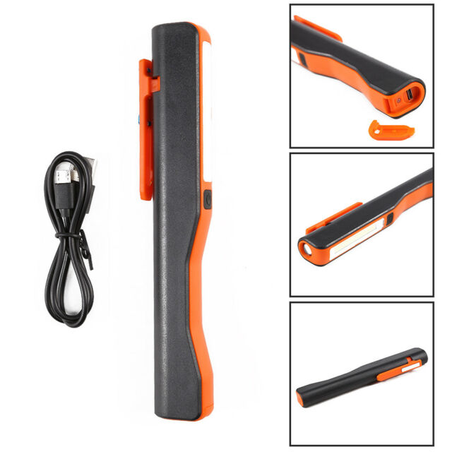 USB LED COB Inspection Lamp Work Light Flexible Rechargeable Torch Magnetic New