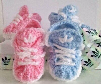 Baby Crochet Chaussures vôtre nom du bébé Baskets Handmade Baskets