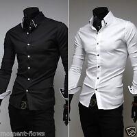 New Mens Sexy Slim Fit VSS Shirt 3 Sizes 2 Colors