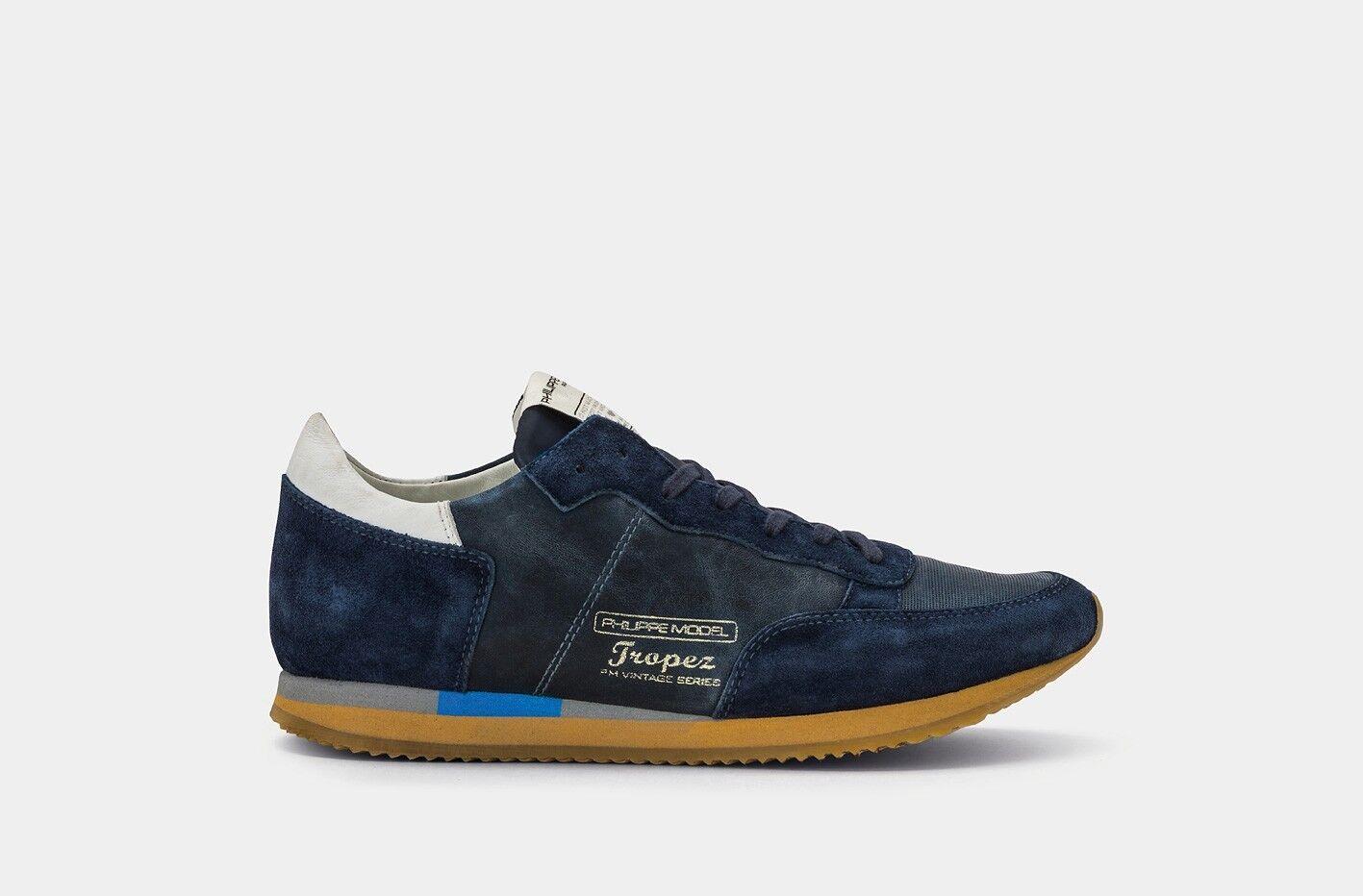 PHILIPPE MODEL scarpe da ginnastica UOMO A/I 18-19 TVLU WW04 BLU