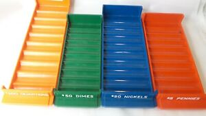 Plastic-Rolled-Coin-Trays-Money-Rolls-Pennies-Nickels-Dimes-Quarters-Set-4-Pack