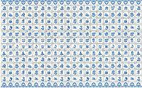 Wandfliese  Delfter Muster Puppenstube 1:12 #34433