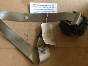 AUDI-A8-D2-99-03-RIGHT-FRONT-TWIST-BEIGE-SEAT-BELT-4D0857706R