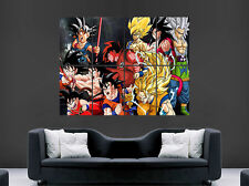 DRAGON BALL Z POSTER  MANGA JAPANESE GOKU SHENRON VEGATA SON GOTEN WALL LARGE