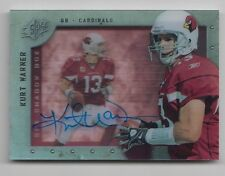 "KURT WARNER UD SPX 09 ""SHADOW BOX"" ON CARD AUTOGRAPH &  AUTHENTICITY CARD#ED HOF"