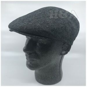 2b8b6fa51a1 Newsboy Ivy Snap Bill Brim Cabbie Golf Dress Cap Hat FullyLined ...