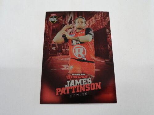 2017//18 TAP N PLAY BBL PARALLEL CARD NO.065 JAMES PATTINSON MELBOURNE RENEGADES