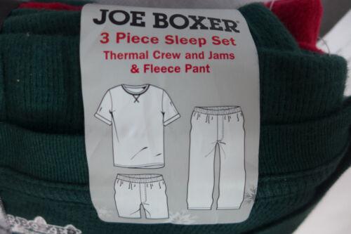 Details about  /Mens Pajamas Joe Boxer 3 Piece Thermal Top /& Shorts Fleece Long Pant Skulls Deer