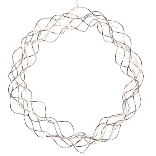 Design Licht-Kranz-Stern mit micro-LED Draht-Lichter-Kette Wand-Metall-Türkranz