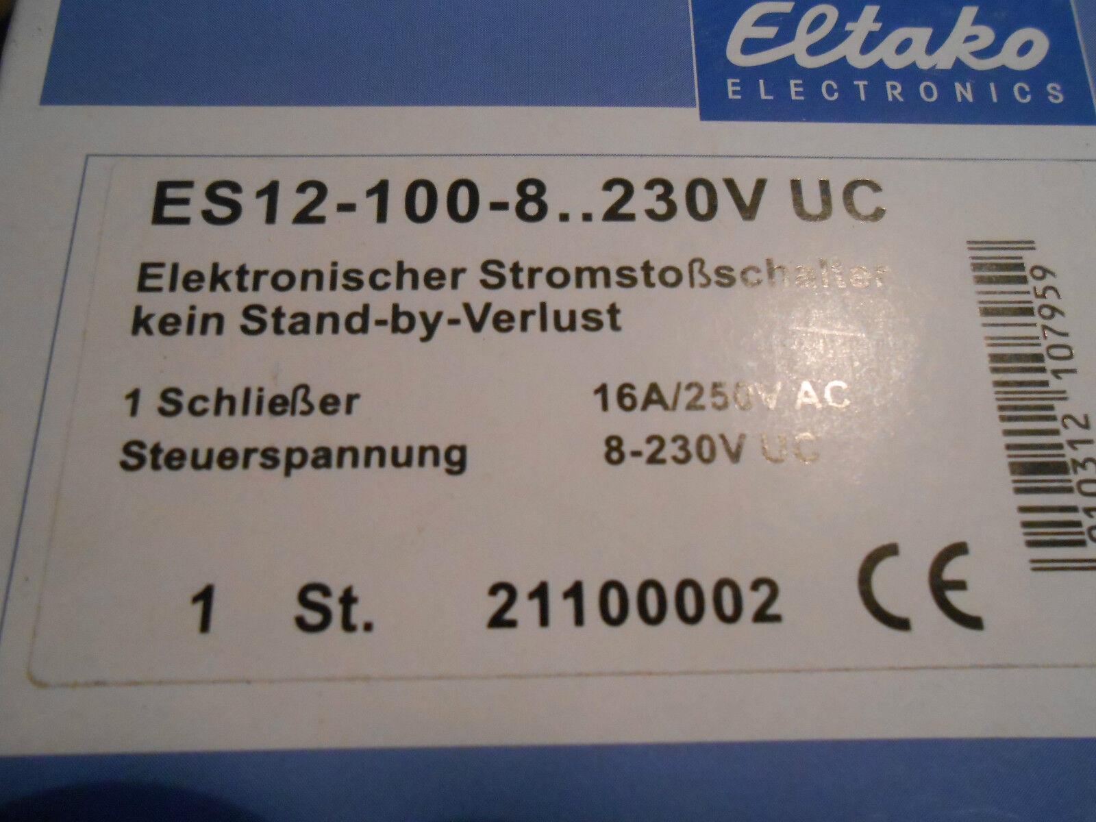 Eltako ES12-100-8..230V UC elektronischer Stromstossschalter 1 Schliesser (A9) | Innovation