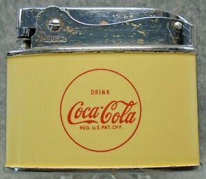 Vintage Drink Coca - Cola Coke  flat advertising lighter NICE RARE