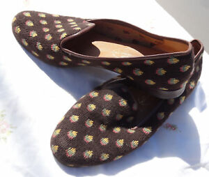 68600a250c3 Image is loading WOMENS-STUBBS-amp-WOOTTON-TAPESTRY-SMOKING-LOAFER-SLIPPER-