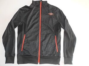 Veste-UMBRO-T-S-Homme-Zippee-Sweat-Shirt-Gilet-Haut-survetement-Sport-Orange