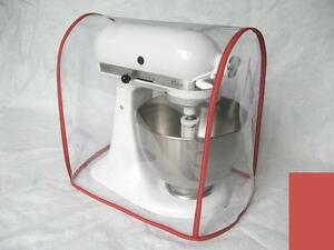 Details About Clear Mixer Cover Fits Kitchenaid Artisan Tilt Head Red Trim 45 5 Qt