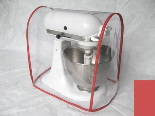 4.5-5 Qt. CLEAR MIXER COVER fits KitchenAid Artisan Tilt-Head RED trim