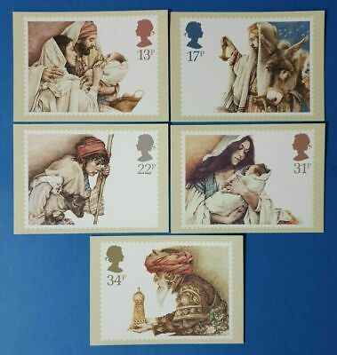Set of 5 PHQ Stamp Postcard Set No.166 Christmas 1994 free gift BK4