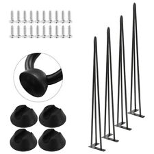 AND Protector Feet Worth!NEW 4x Premium Hairpin Table Legs FREE Screws