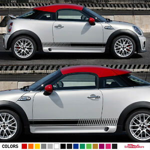 Sticker Decal Side Stripe Kit For Mini Coupe Cooper S Sd Roadster