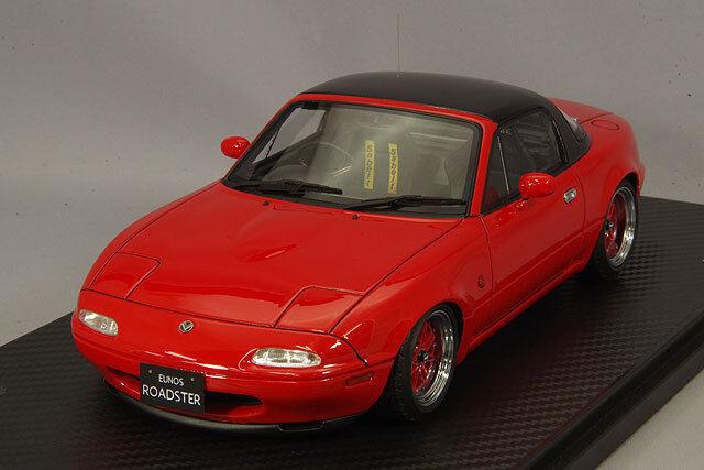 1 18 IG allumage  IG0667 Mazda MX5 EUNOS Roadster NA Rouge
