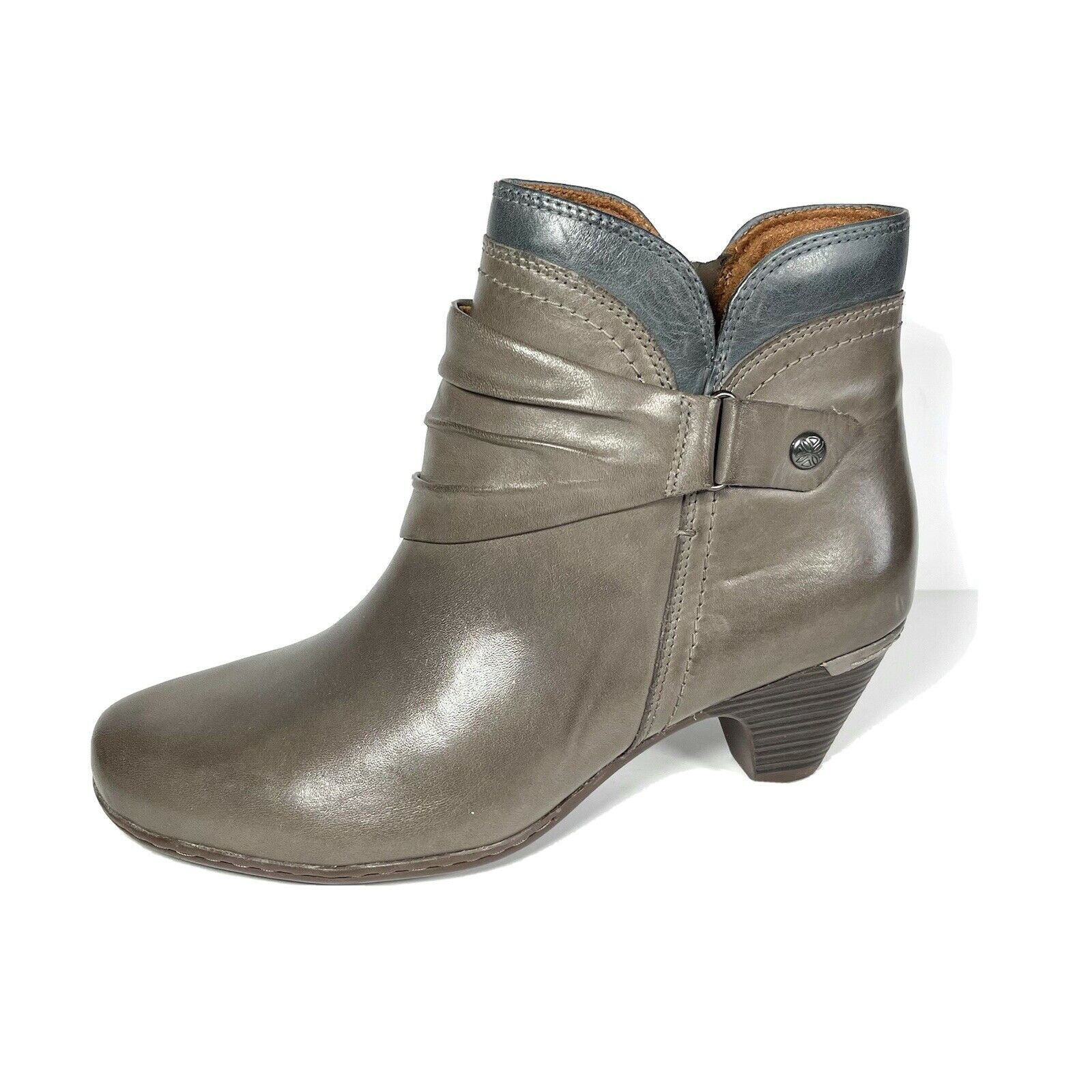 New Rockport Cobb Hill Womens Adaline Ankle Boots Gray Size 9