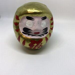 Daruma-ORO-modelo-MEDIO-dorado-fabricado-en-Japon-Importado-de-direct