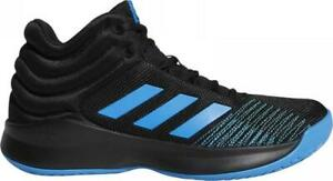 Details about Adidas Pro Spark 2018 Men's Basketball Shoes Black+Blue Mid Top Sneakers B44963