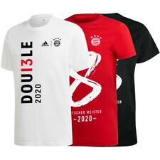 adidas Bayern München Double Pokalsieger Deutscher Meister 2020 T-Shirt